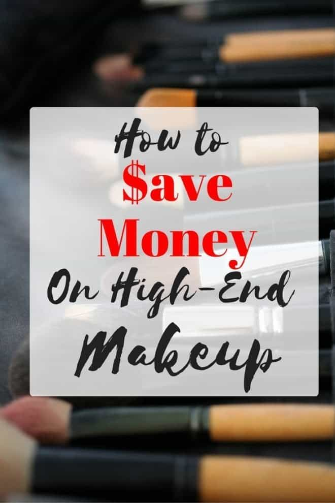 I love high-end makeup, but I don't like paying full price. What's a girl to do? Here's how I save money when buying high-end makeup.
