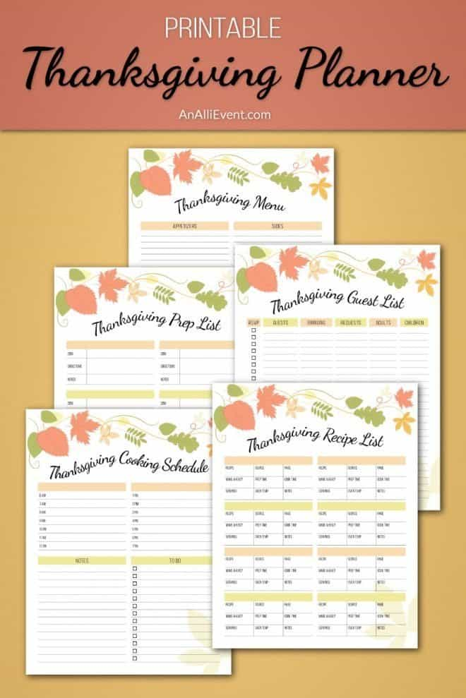 Come on over and grab a FREE Thanksgiving Planner Printable. It includes 5 printables that will have you ready to host Thanksgiving Dinner. Click the photo to get your free printables or save for later.