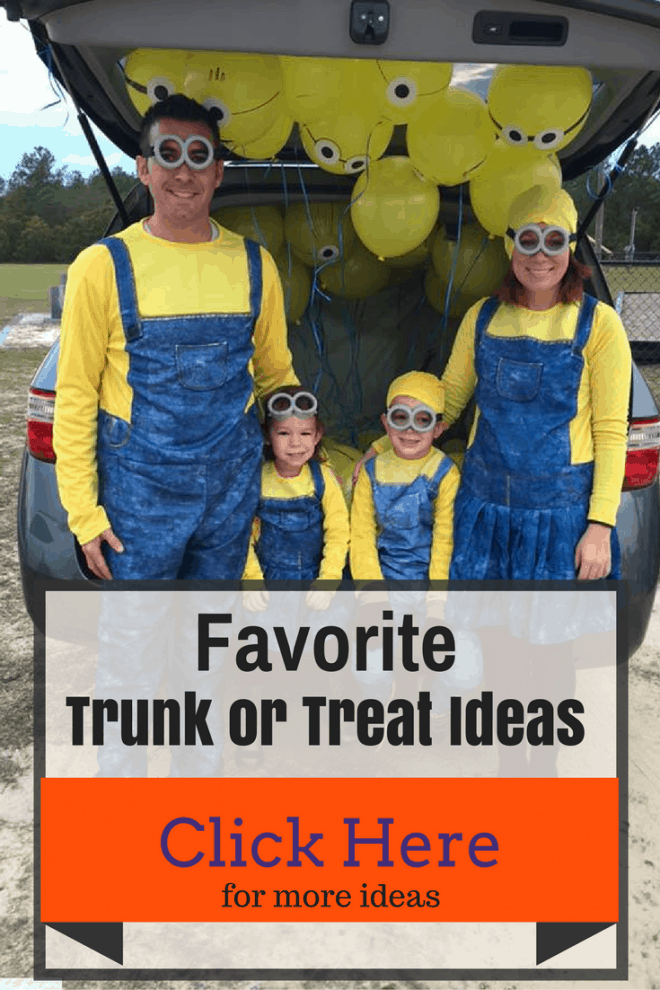 Are you looking for the best Trunk or Treat ideas? I've got all my favorites today on the blog. Click the photo for trunk or treat ideas or save for later.