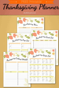 Adorable Thanksgiving - Pretty Pintastic Party 11.18 - Thanksgiving Planner - Free Printable