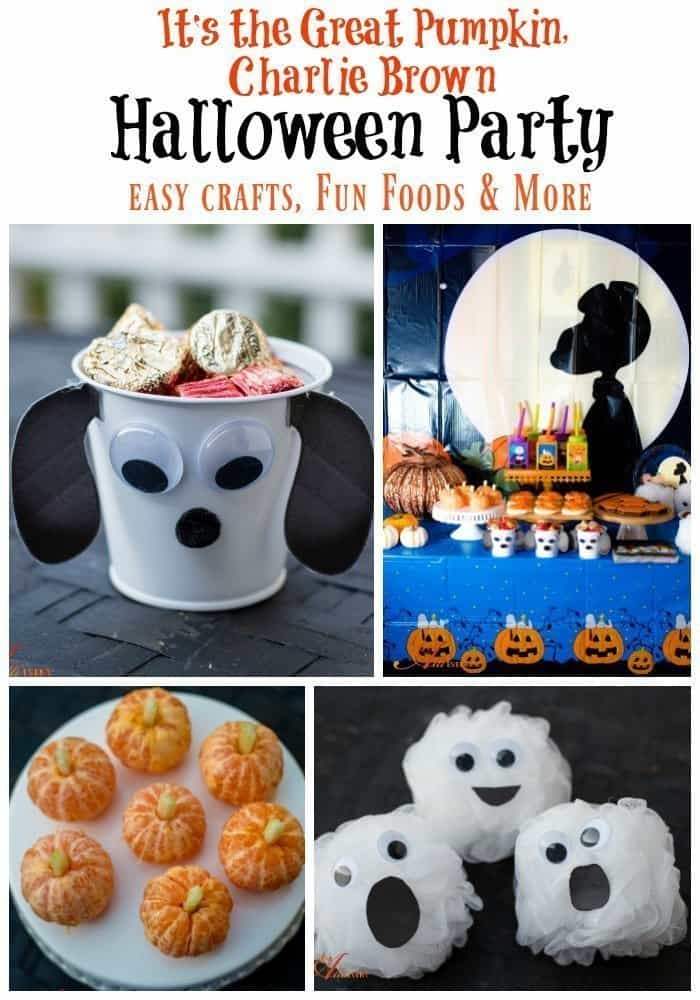 It 39 s the great pumpkin charlie brown halloween party an for How to have a great halloween party