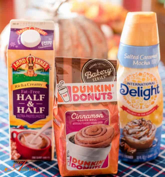 Salted Caramel Cinnamon Roll Latte begins with Dunkin Donuts