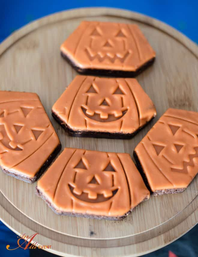 Pumpkin Brownies - It's the Great Pumpkin Charlie Brown