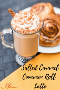 When the girls stop by for coffee and chitchat, I serve Salted Caramel Cinnamon roll Lattes. These are so easy to make and they are delicious.