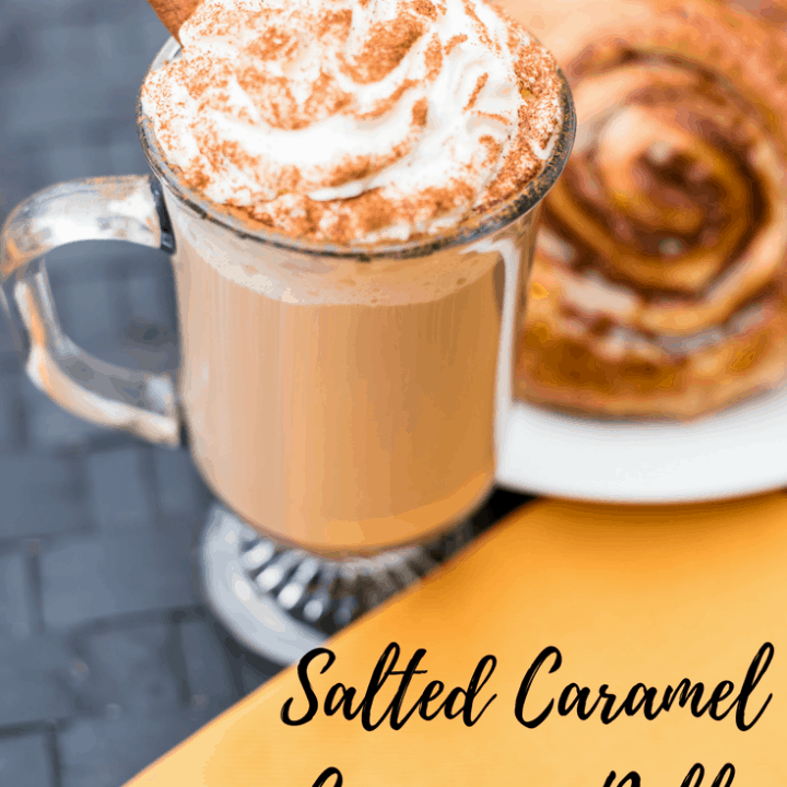 Salted Caramel Cinnamon Roll Latte