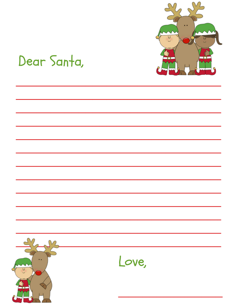 It's just a graphic of Sizzling Santa Letter Templates Free Printable