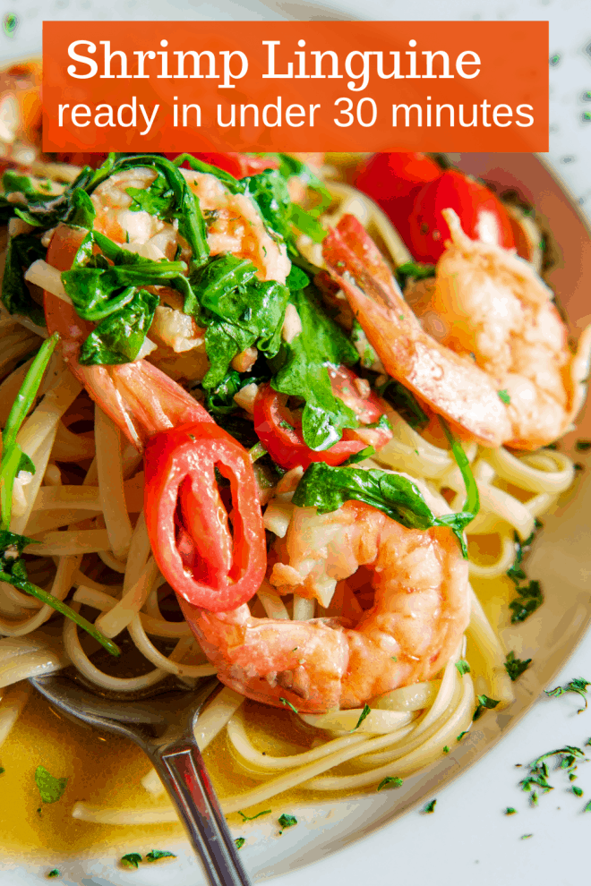 Linguine Aglio e Olio with Shrimp and Artichoke Hearts