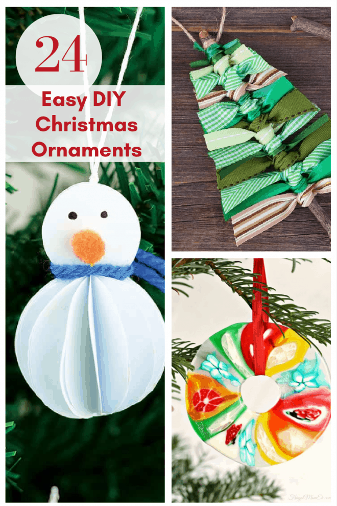 24 DIY Christmas Ornaments