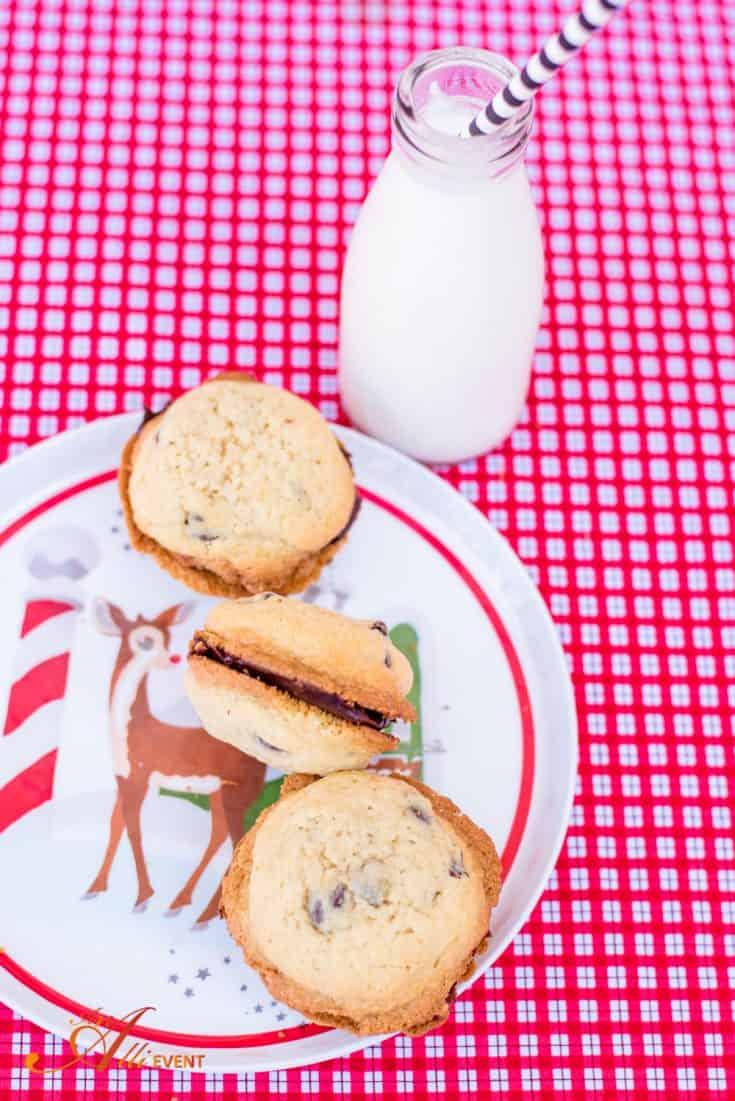 Red Velvet Heart Shaped Cookies plus Chocolate Chip Cookies