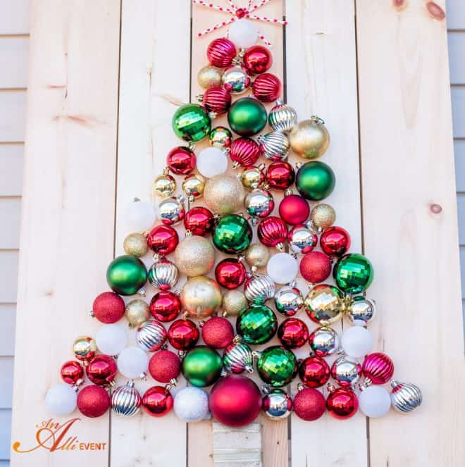 DIY Holiday Ornament Christmas Tree