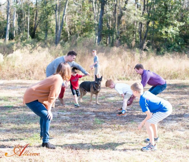 Family Playing Football - How to Roast a Turkey