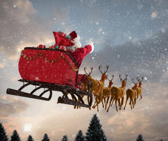 Santa-and-Sled