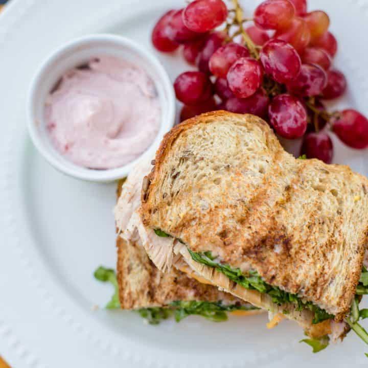 Turkey Panini with Cranberry Mayo