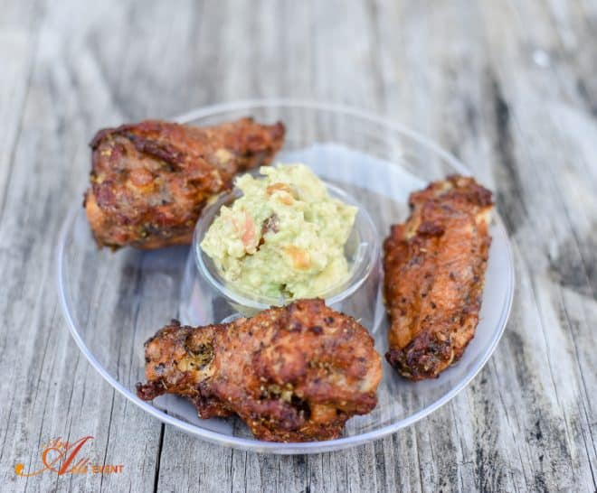 Tequila Lime Wings and Homemade Guacamole
