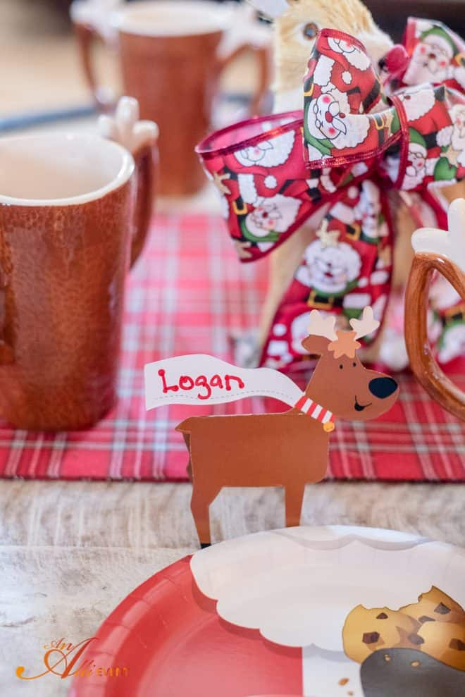 Place Cards - Reindeer Craft Party