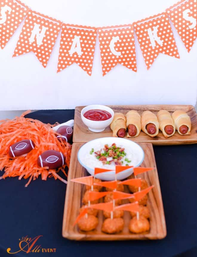 Blue Cheese Bacon Dip and Favorite Football Party Snacks