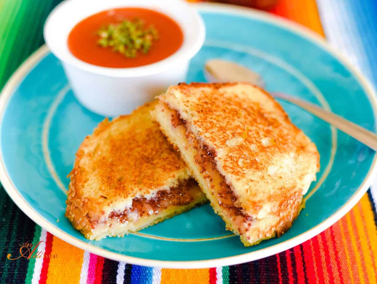 Gourmet Grilled Cheese with Chia Strawberry Fruit Spread
