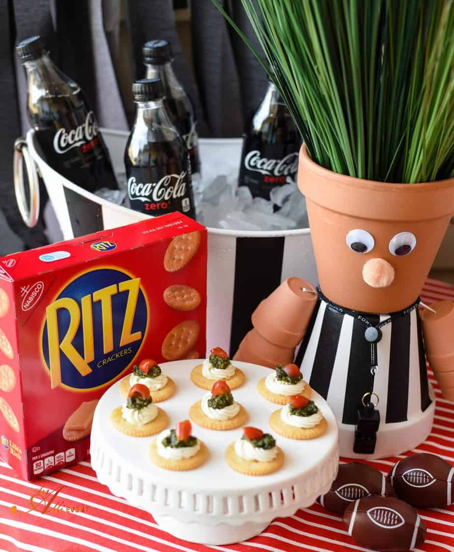 Kickoff Party with DIY Referee Centerpiece and Lighter Fare An
