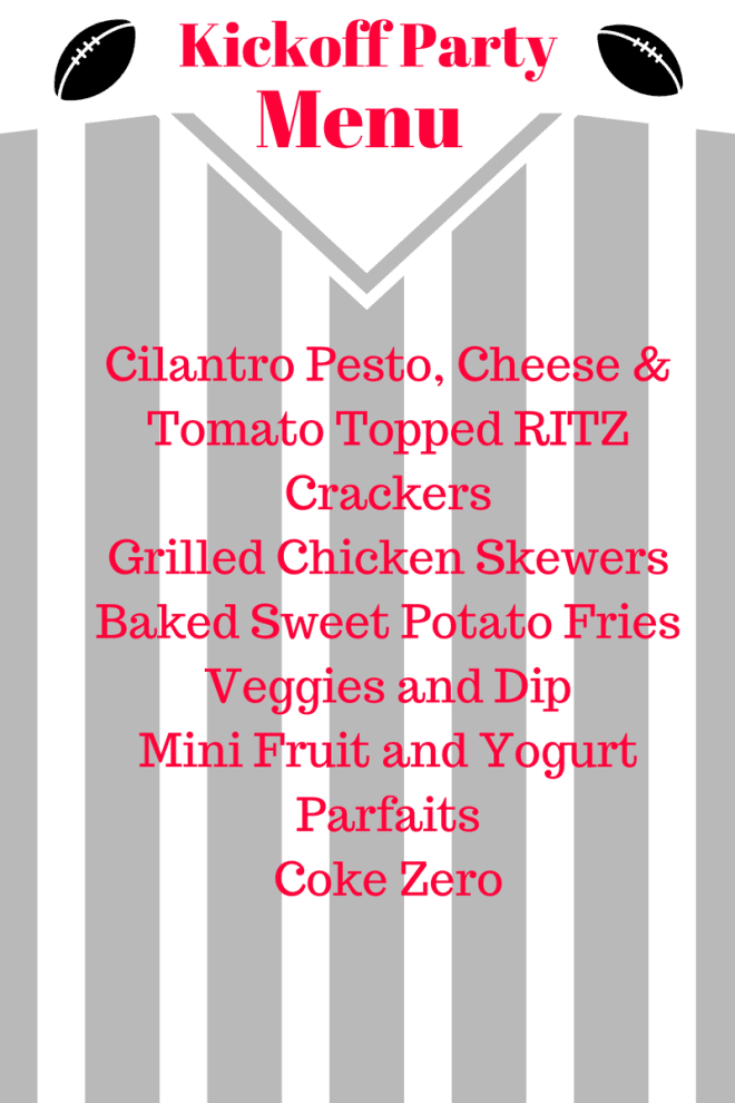 Kickoff Party Menu