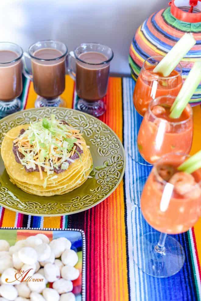 Mexican Fiesta - Tostadas, Chicken Enchiladas