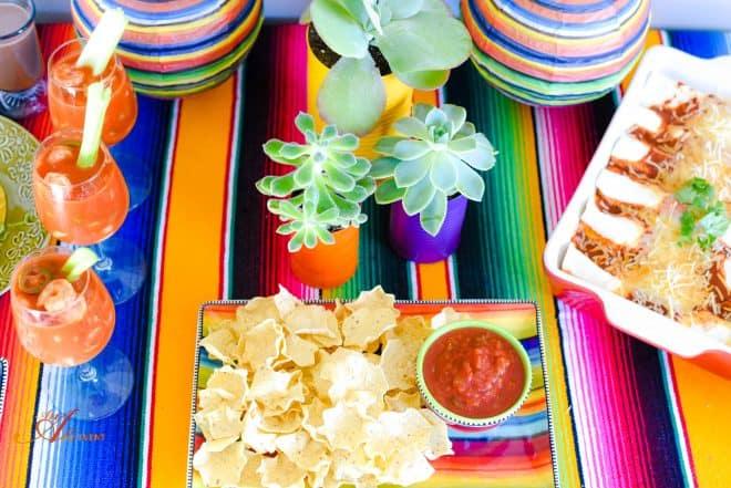Mexican Fiesta featuring Chicken Enchiladas