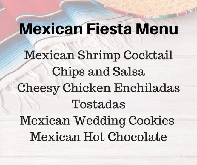 Mexican Fiesta Menu - Chicken Enchiladas