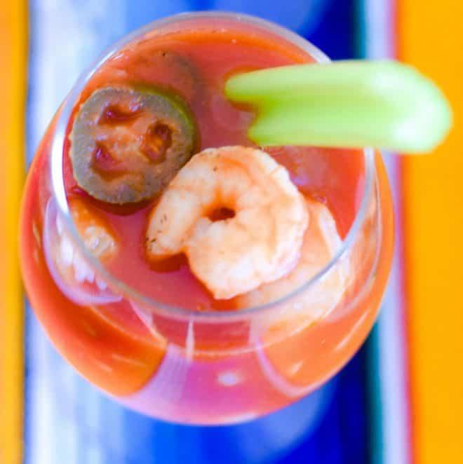 Mexican Fiesta Shrimp Cocktail - Chicken Enchiladas