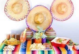 Mexican Fiesta Party Table - Chicken Enchiladas