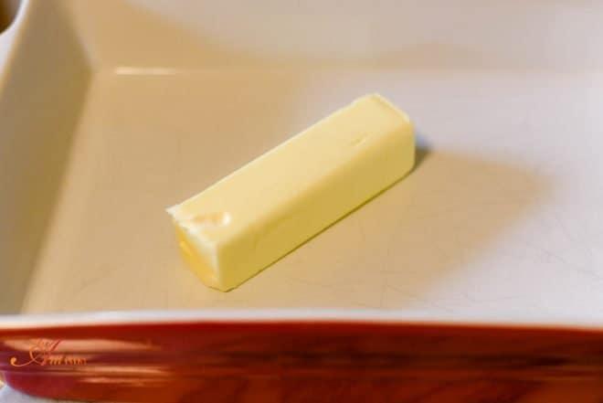 Melt butter in 13x9 dish - Caramel Cobbler