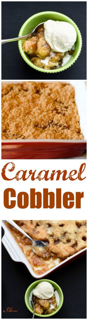 One bite of homemade Caramel Cobbler and you'll be hooked! In 30 minutes, you'll have a crunchy crust and a creamy caramel. It's even better served with vanilla ice cream.