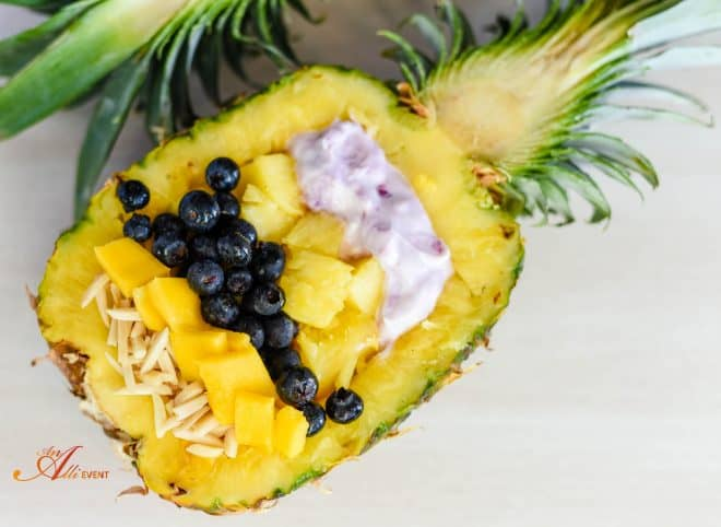 5 Ingredient Pineapple Mango Bowl