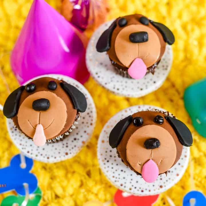 Puppy Face Chocolate Cupcakes