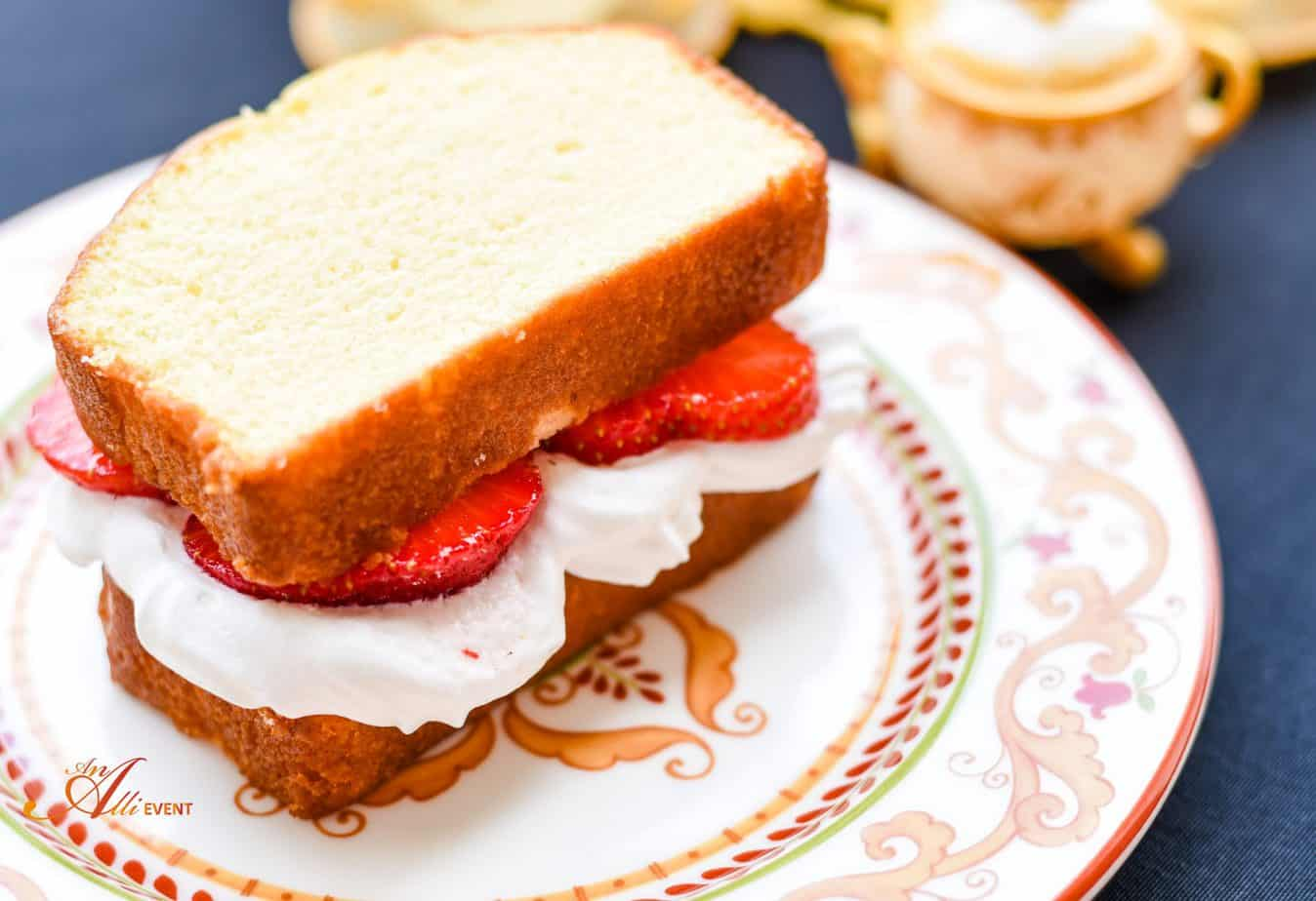 Beauty and the Beast Tea Party with Strawberry Shortcake Sandwiches - An Alli Event