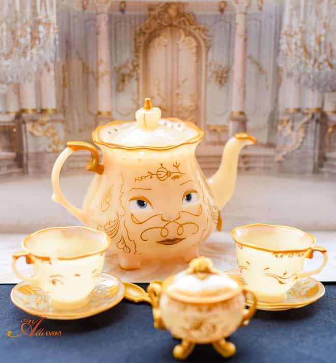 Beauty and The Beast Tea Set and Strawberry Shortcake Sandwiches