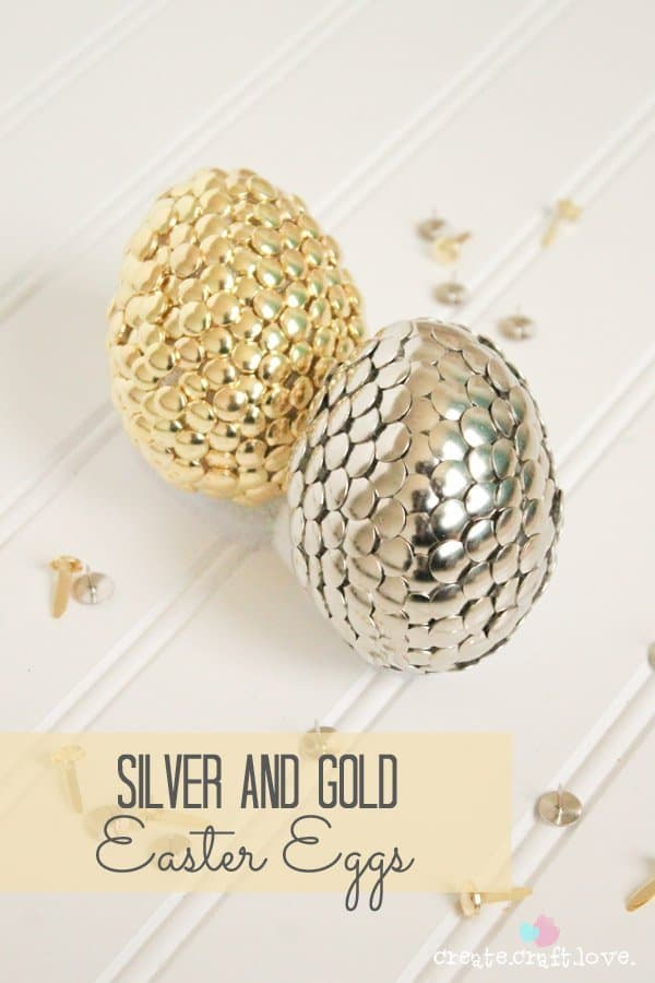 Egg Decorating - Silver and Gold