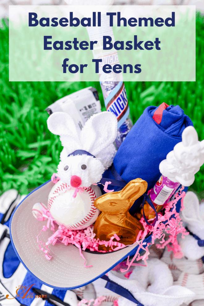 Baseball Themed Easter Basket for Teens