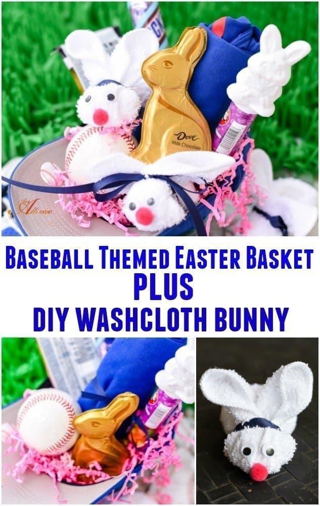 Baseball Themed Easter Basket