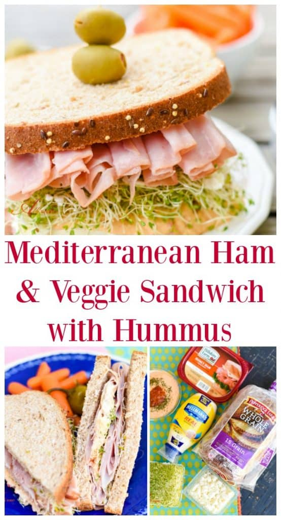 When making a Mediterranean Ham & Veggie Sandwich, it is all about the layering and using quality ingredients.
