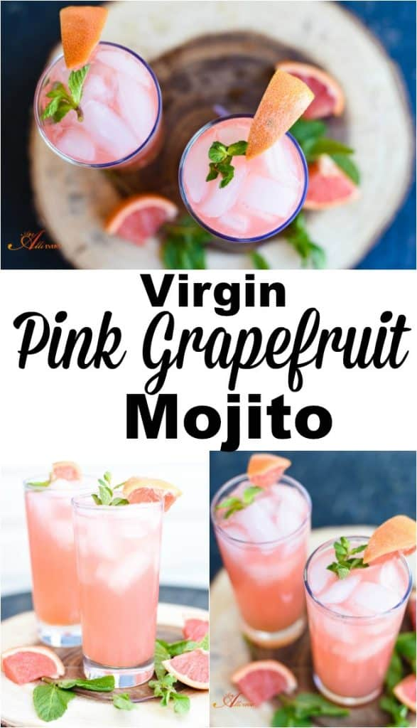 Virgin Pink Grapefruit Mojito