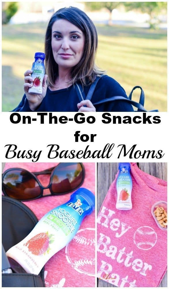 Snack Solutions for On-The-Go Busy Baseball Moms - LALA Yogurt Smoothie