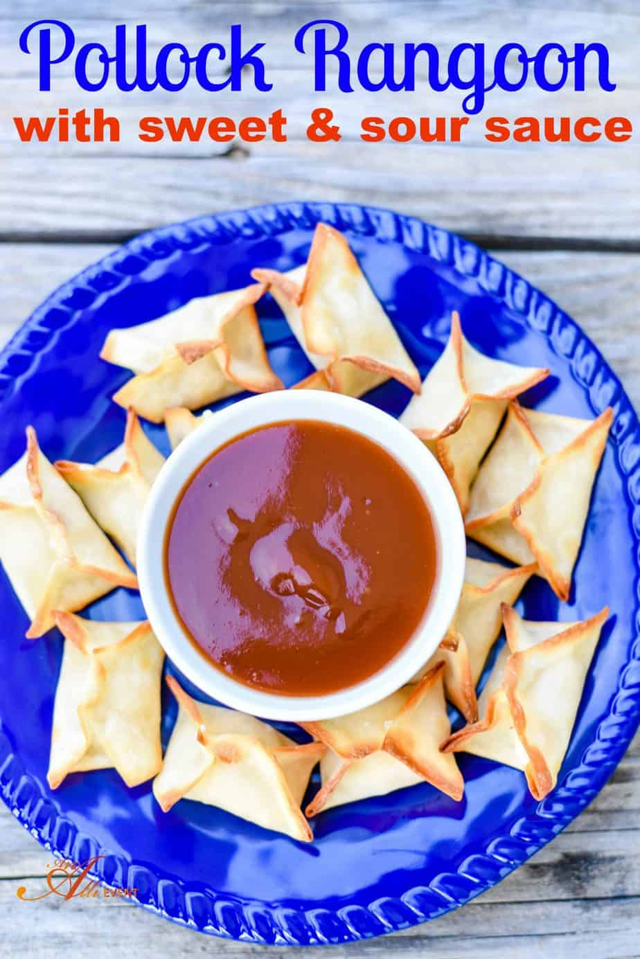 Pollock Rangoon Appetizers With Sweet and Sour Sauce - An ...