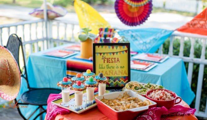 Fiesta Tablescape and Mexican Chicken Casserole