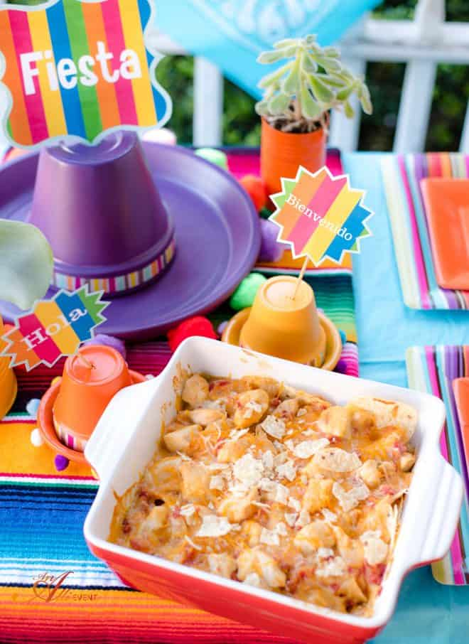 Mexican Chicken Casserole and Fiesta Fun