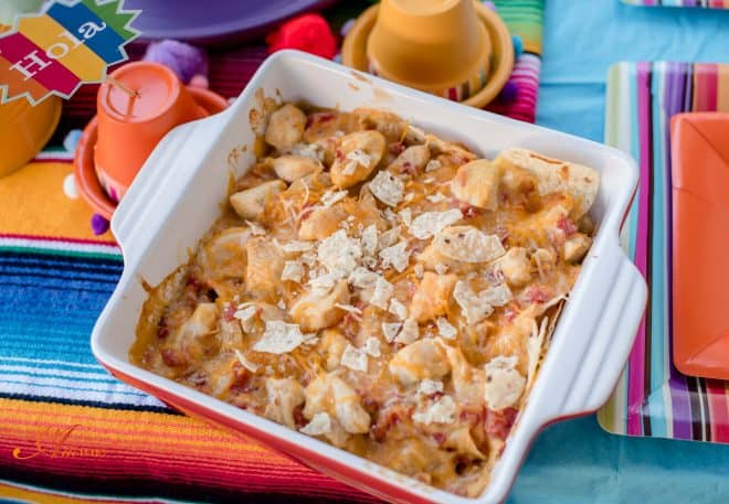 Fiesta and Mexican Chicken Casserole