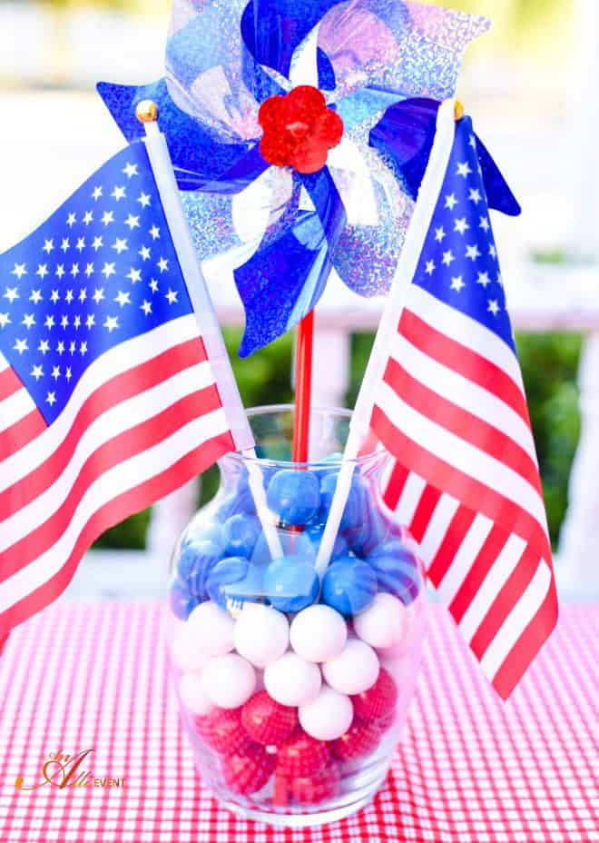 Patriotic Centerpiece - Chocolate Chip Peanut Butter Cookies