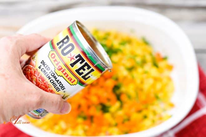 Add one can of RO*TEL to Zesty Corn Salad
