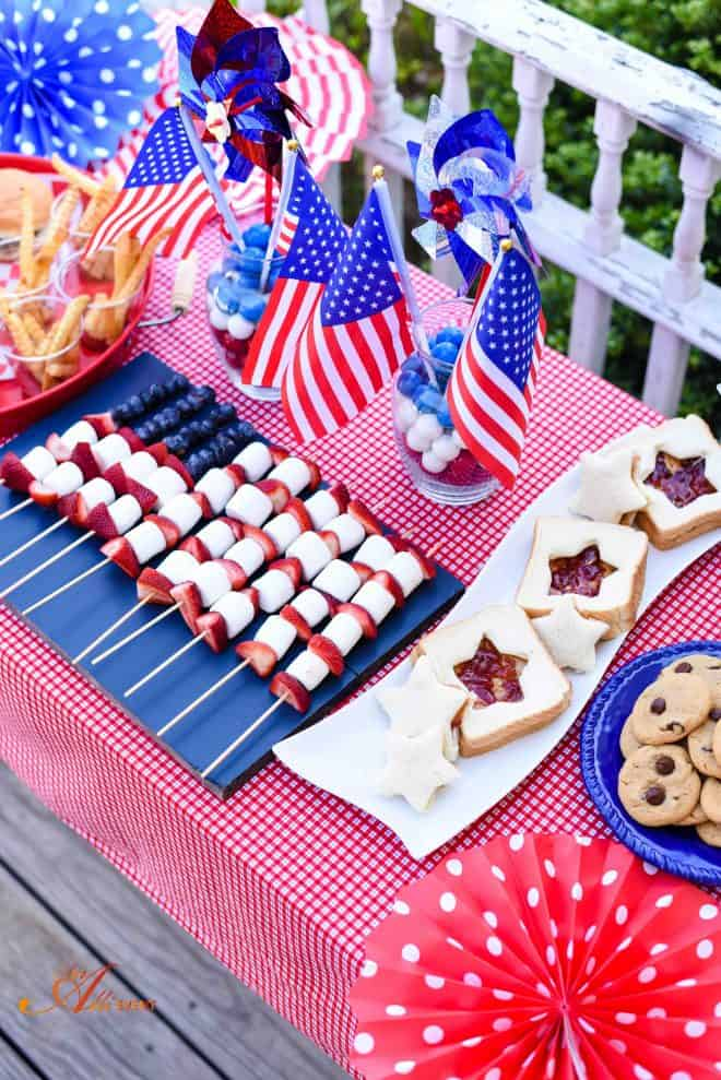 Chocolate Chip Peanut Butter Cookies are the main event for my Memorial Day Patriotic Party
