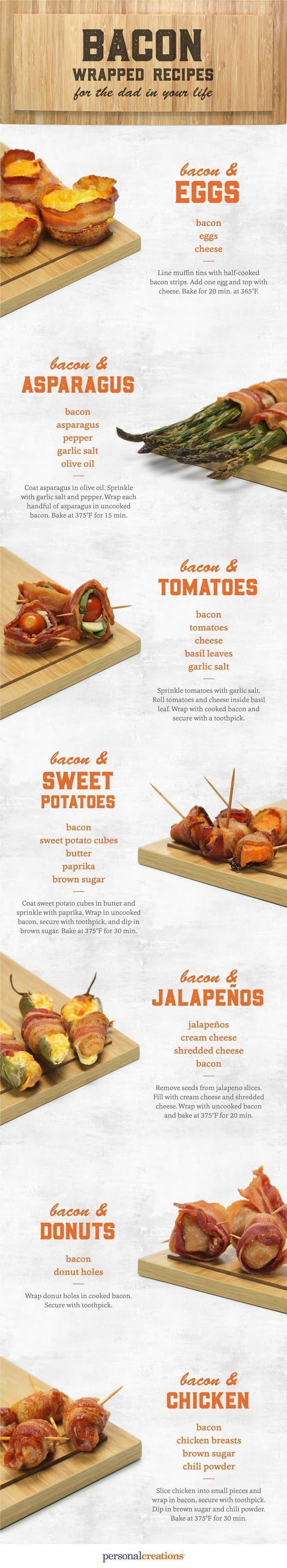 bacon wrapped snacks