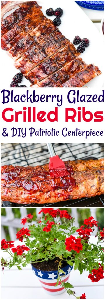 My husband declared these Blackberry Glazed Grilled Ribs the best ever! The glaze is amazing and the grilled ribs are tender and delicious. It's so easy to grill ribs. Click the pic and I will show you how it's done.