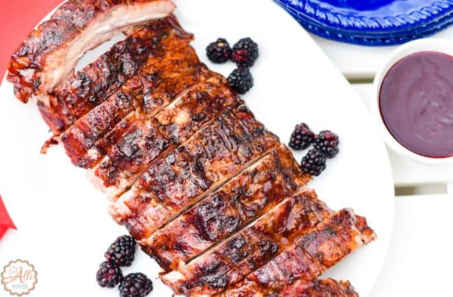 Blackberry Glazed Grilled Ribs